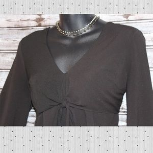 bebe Tops - {XS/S}Cropped Pheasant Top w Front Tie by bebe